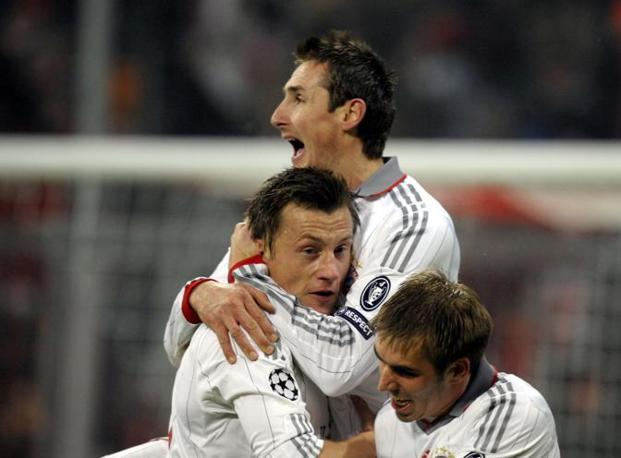 La gioia dei giocatori del Bayern (Afp)