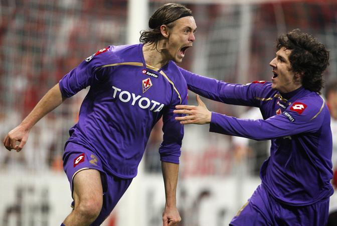 La gioia di Kroldrup al gol del momentaneo pareggio (Ap)