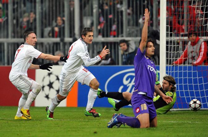 Il gol del 2-1 in fuorigioco di Klose (Epa)