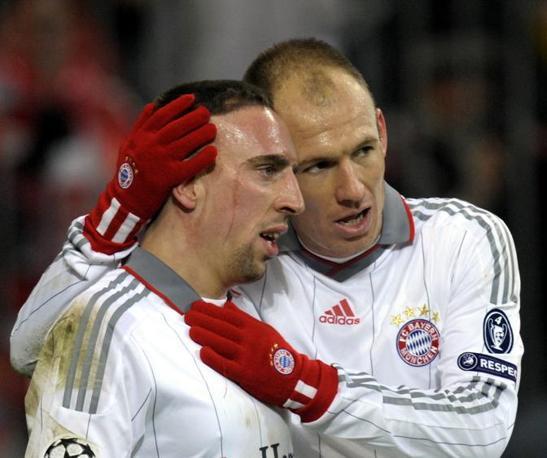 Robben e Ribery (Afp)