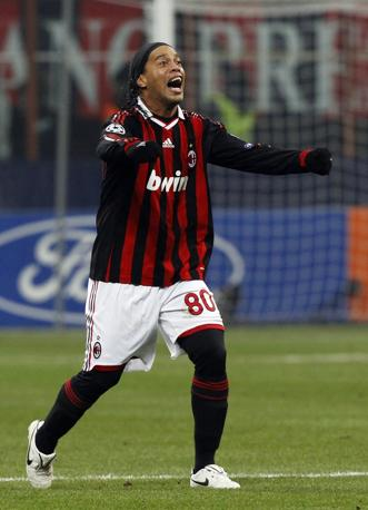Milan-Manchester United: decisivo però un tocco di Carrick che spiazza Van Der Sar (Alessandro Bianchi/Reuters)