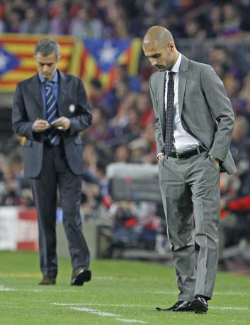 Mourinho e Guardiola (Ap)