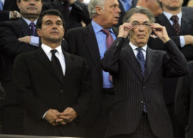 I due presidenti in tribuna: Laporta e Moratti (Photoviews)