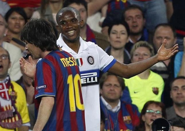 Eto'o e Messi (Reuters)