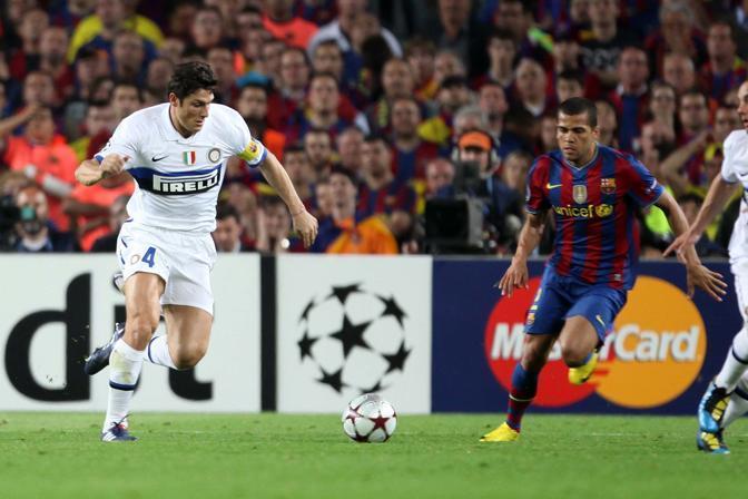Zanetti controlla la palla (Lapresse)