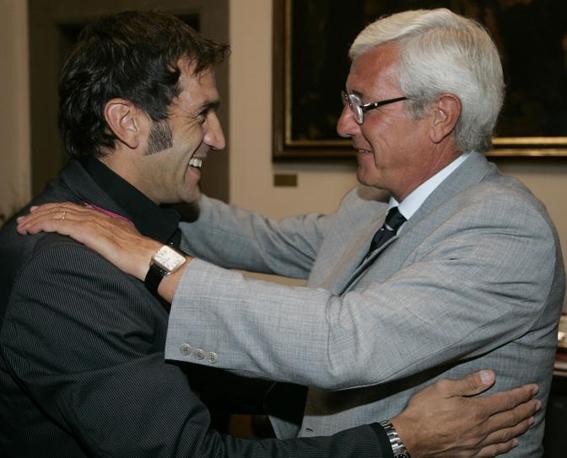 Con Marcello Lippi (Ap)