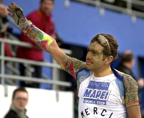 2001, Ballerini a Roubaix (Epa)