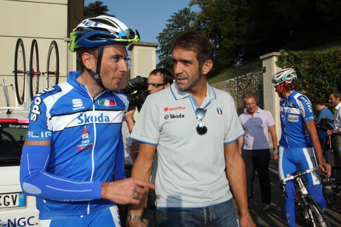 2009: con Ivan Basso (foto Bettini)