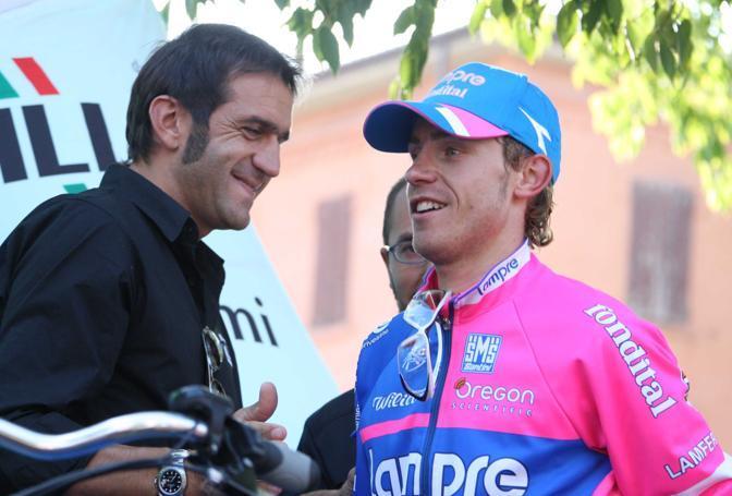 Con Cunego al Mondiale di Varese (foto Bettini)