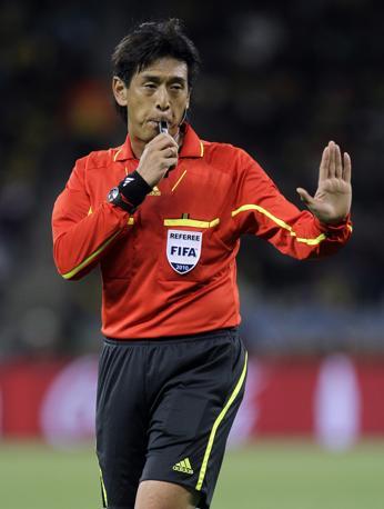 L'arbitro Yuichi Nishimura (Ap/Roberto Candia)