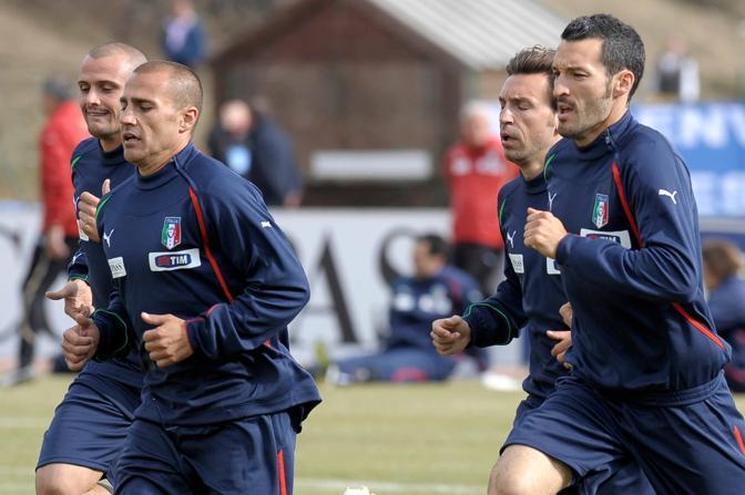 Pepe, Cannavaro, Pirlo e Zambrotta (LaPresse)