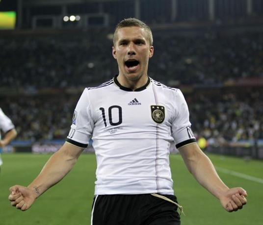 Germania-Australia: il «polacco» Lukas Podolski apre le marcature (Ap/Julie Jacobson)