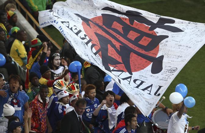 Giappone-Camerun: tifosi giapponesi (Epa/Veiga)