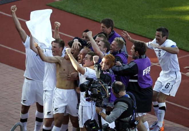 Slovacchia-Nuova Zelanda: primo punto della storia del mondiale per gli All Black, che hanno giocato in bianco (Ap/Hassan Ammar)