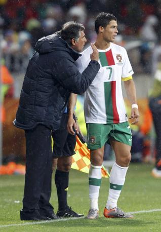 Portogallo-Costa d'Avorio: e Queiroz li dà a Ronaldo (Reuters/José Manuel Ribeiro)