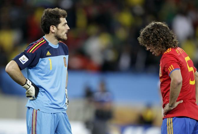 Il forcing spagnolo non porta risultato: i campioni d'Europa perdono il match d'esordio (Epa)