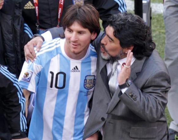 Argentina-Corea del sud: Maradona dice a Messi di non preoccuparsi, anche se non ha ancora segnato (Epa/John Hrusa)