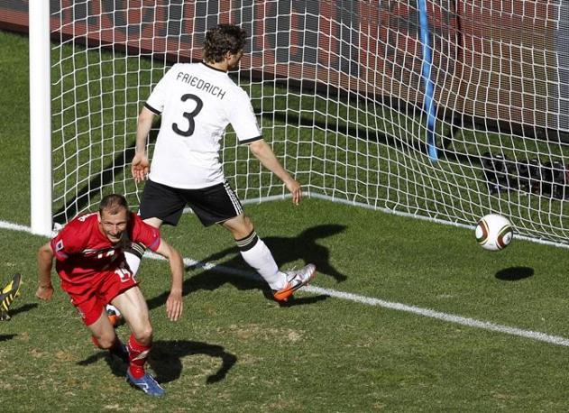 Germania-Serbia 0-1: il gol di Jovanovic (Reuters)