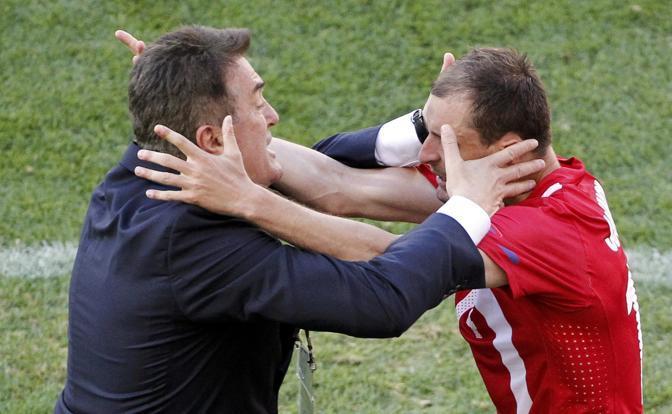 Germania-Serbia 0-1: Jovanovic con il ct Antic (Reuters)