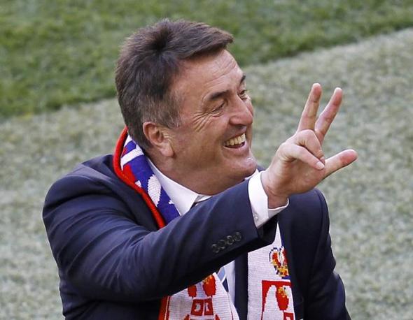 Germania-Serbia 0-1: Antic festeggia con il saluto serbo a tre dita (Reuters)