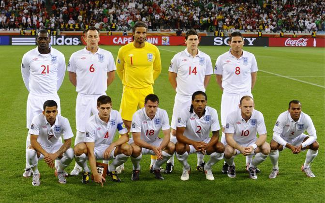 Inghilterra- Algeria: 0-0: ecco la formazione inglese schierata a Città del Capo da Capello (LaPresse)