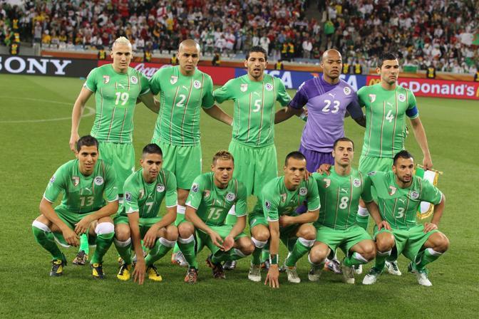 Inghilterra-Algeria 0-0: la formazione algerina (Epa)