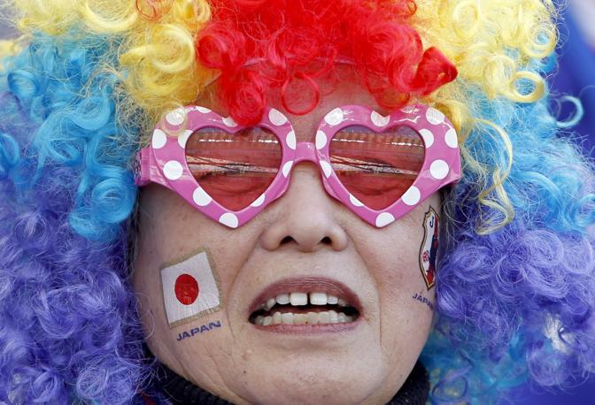Olanda-Giappone 1-0: una tifosa giapponese (Reuters)