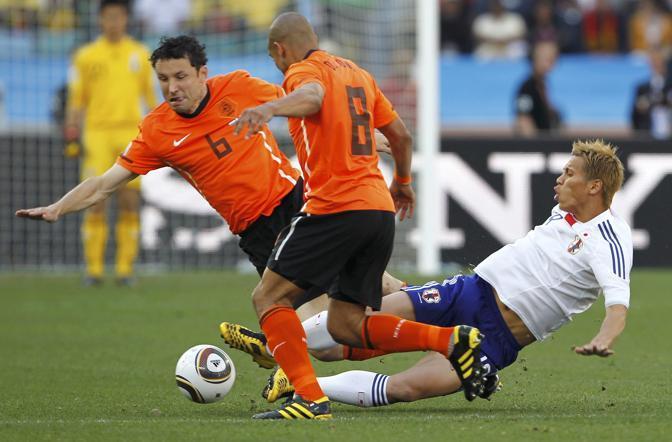 Olanda-Giappone 1-0: Honda marcato da de Jong e van Bommel (Reuters)