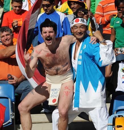 Olanda-Giappone 1-0: tifosi giapponesi (Epa)
