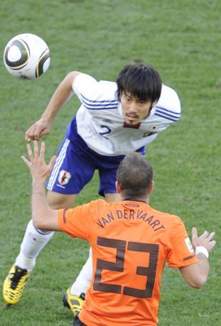 Olanda-Giappone 1-0: van der Vaart e Abe (Afp)