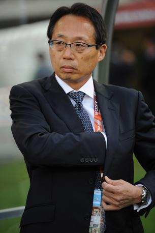 Olanda-Giappone 1-0: il ct giapponese Takeshi Okada (Epa)