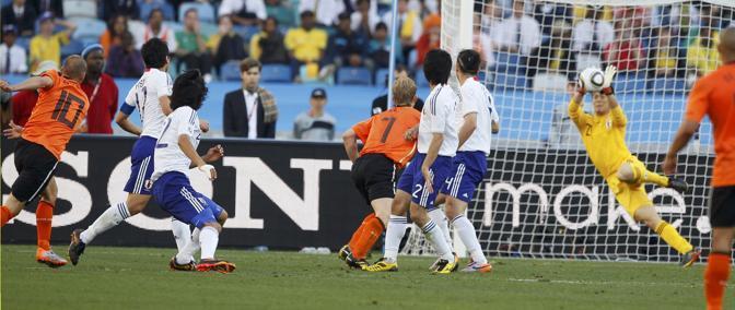 Olanda-Giappone 1-0: gol di Sneijder (Reuters)