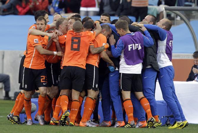 Olanda-Giappone 1-0: la festa degli arancioni (Ap)