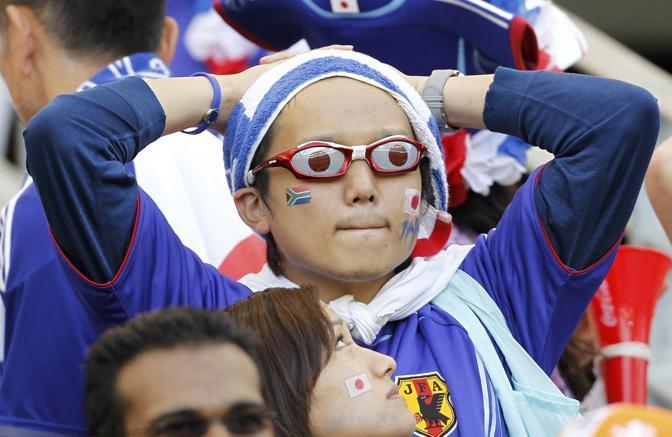 Olanda-Giappone 1-0: delusioni di un tifoso giapponese (Reuters)