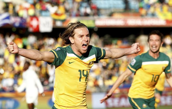 Ghana-Australia 1-1: la gioia di Holman (Reuters)