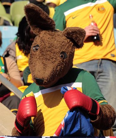 Ghana-Australia 1-1: tifoso australiano (Ap)