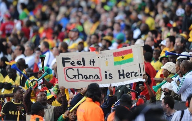 Ghana-Australia 1-1: tifosi del Ghana (Afp)