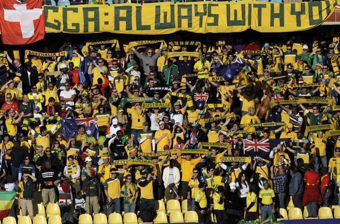Ghana-Australia 1-1: tifosi australiani (Ap)