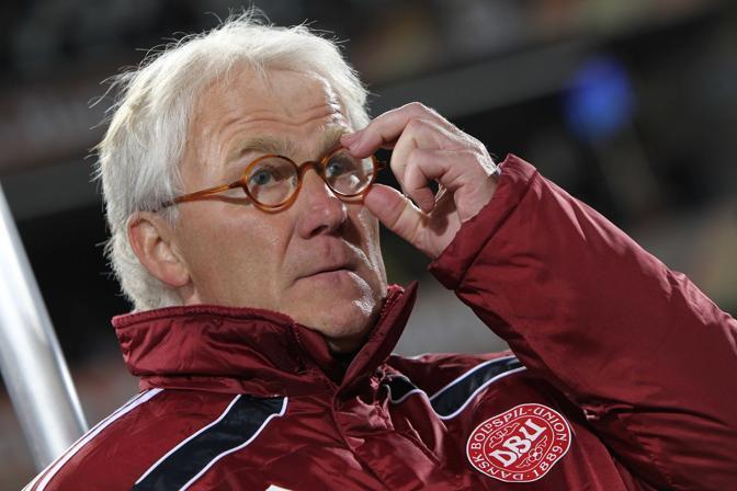 Camerun-Danimarca 1-2: Morten Olsen, ct della Danimarca (Lapresse)