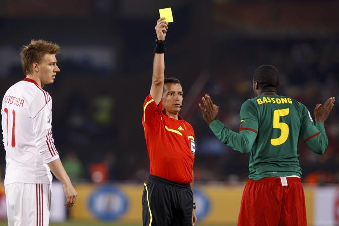 Camerun-Danimarca 1-2: cartellino giallo per Bassong (Reuters)