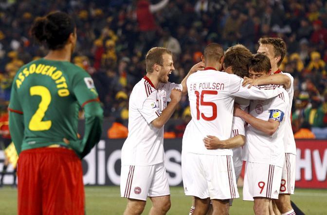 Camerun-Danimarca 1-2: la gioia dei danesi (Reuters)
