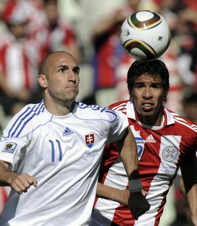 Slovacchia-Paraguay 0-2: Vittek e Caceres (Ap)