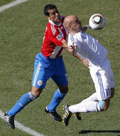 Slovacchia-Paraguay 0-2: Paulo da Silva e Robert Vittek (Epa)