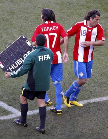 Slovacchia-Paraguay 0-2: entra Torres, esce Valdez (Reuters)