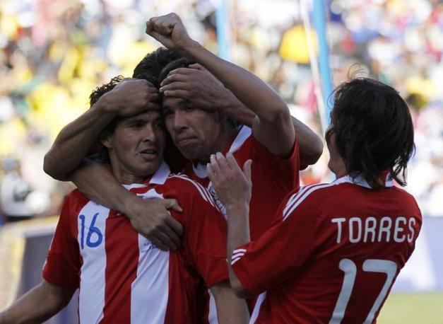 Slovacchia-Paraguay 0-2: la gioia dei paraguayani (Reuters)