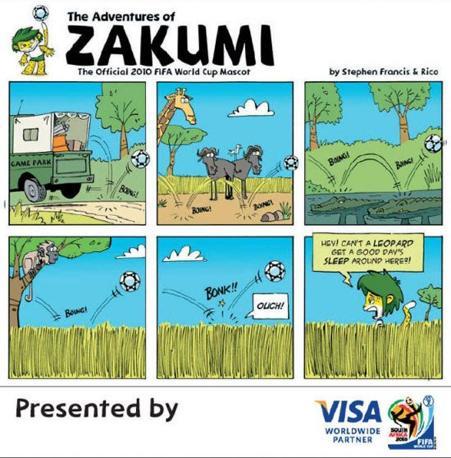 Zakumi, di Stephen Francis e Rico Schacherl