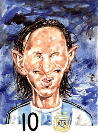 """Lionel Messi, da """"Passione mondiale. 1930-2010"""", di German Aczel"""
