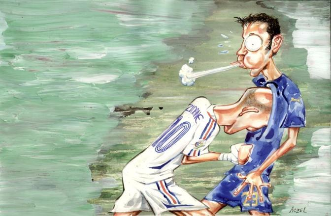 """Zidane e Materazzi, da """"Passione mondiale. 1930-2010"""", di German Aczel"""