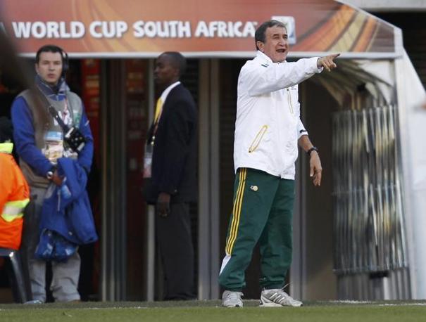 Francia-Sudafrica 1-2: il ct del Sudafrica, il brasiliano Alberto Parreira (Reuters)