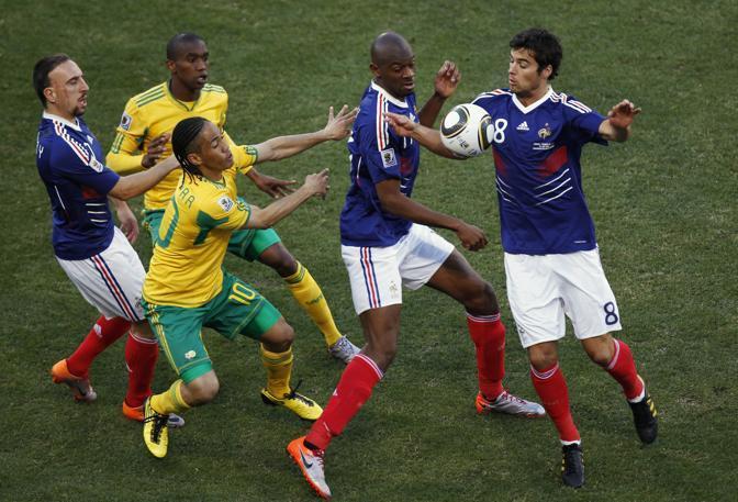 Francia-Sudafrica 1-2: un momento del match (Ap)